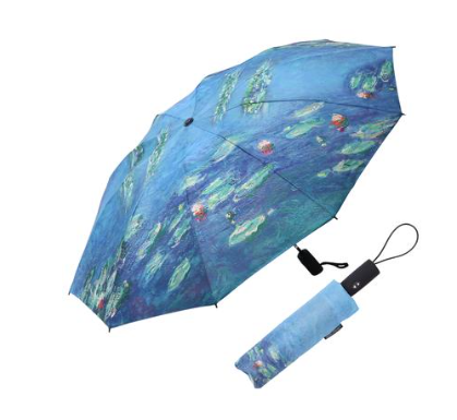 RainCaper - Monet Water Lilies Folding Travel Umbrella