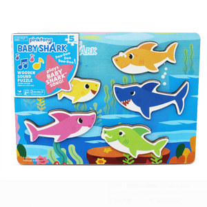 Wooden Sound Puzzle - Baby Shark