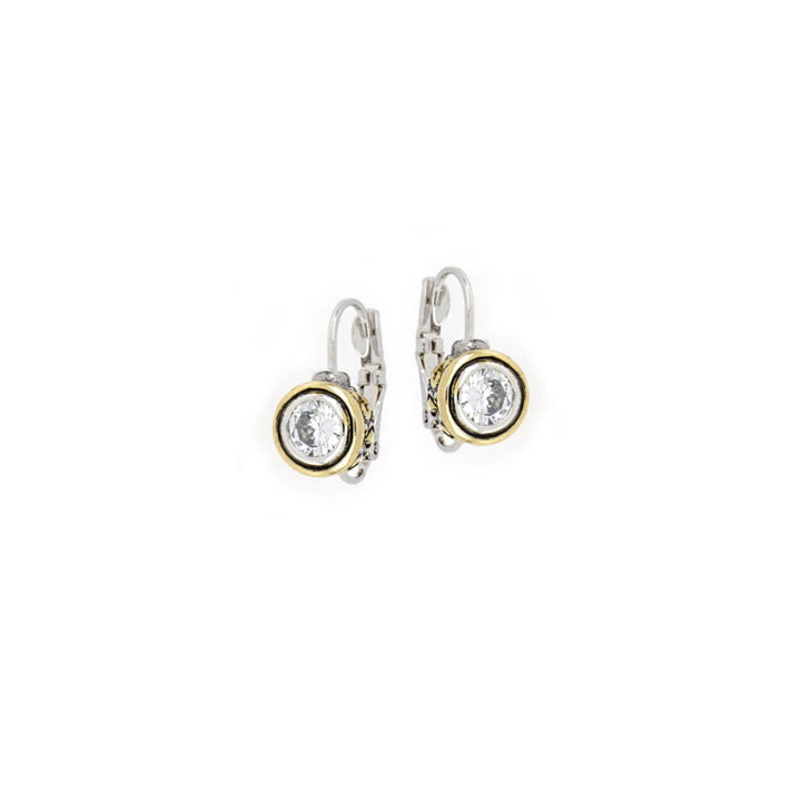 Beijos CZ Bezel Set Earrings - 6MM