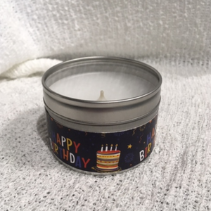 Candle - Happy Birthday - Mini - Champagne