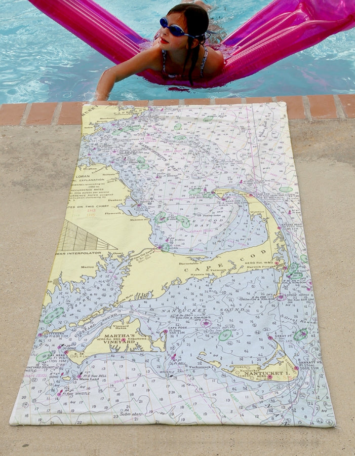 Beach Towel - Cape and Islands Map