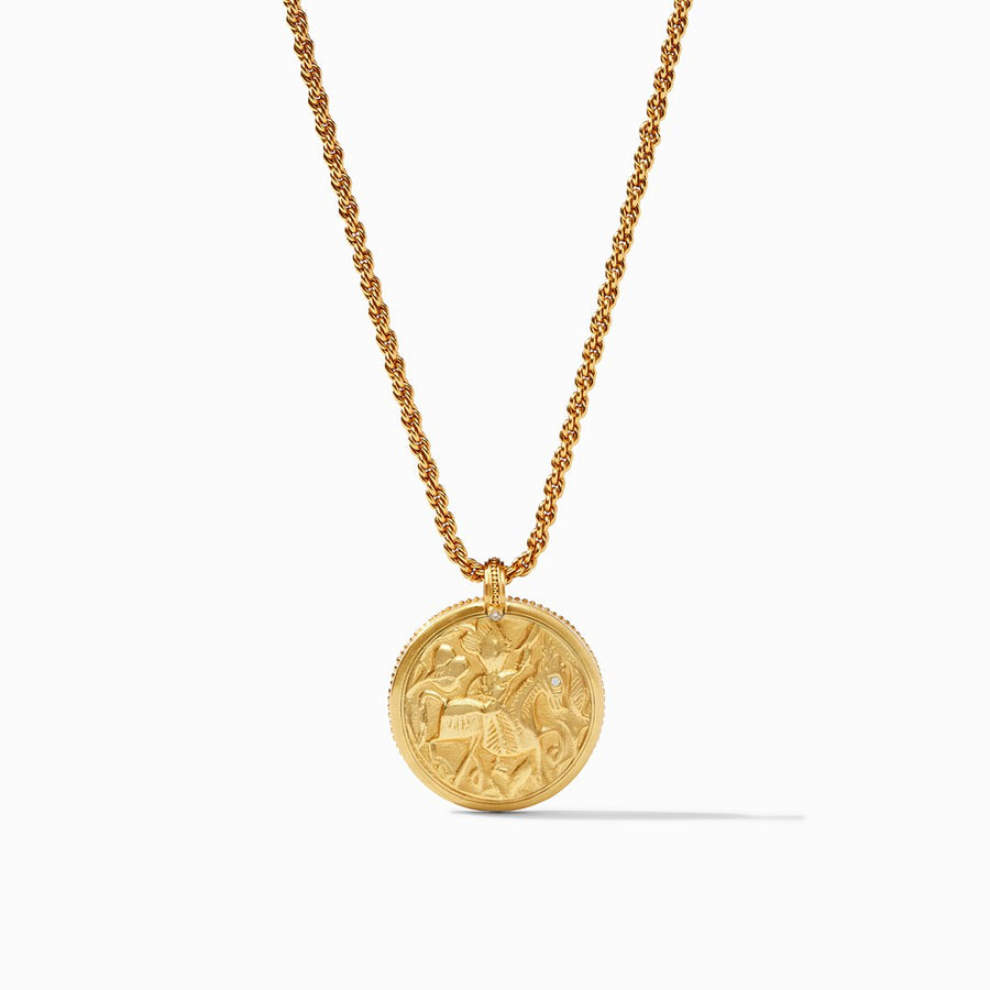Julie Vos- Coin Statement Necklace-Cl.ear