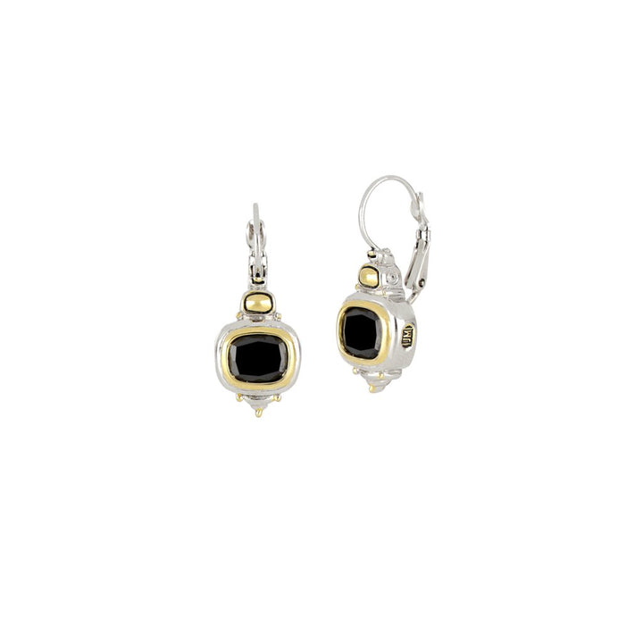John Medeiros- Nouveau Black French Wire Earrings