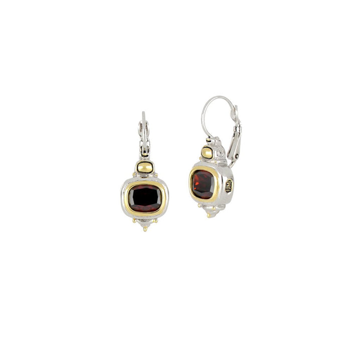 John Medeiros- Nouveau Garnet French Wire Earrings