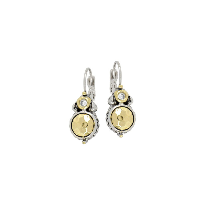 John Medeiros- Nouveau Collection Hammered French Wire Earrings