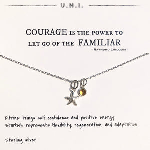 Necklace - Courage is the power...