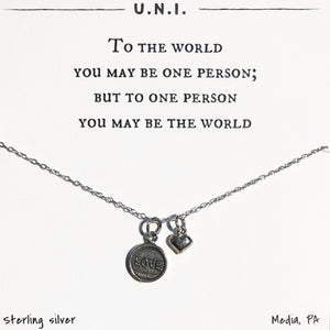 Necklace - To the world you...