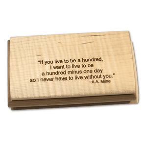 Keepsake Box - If You Live to be 100