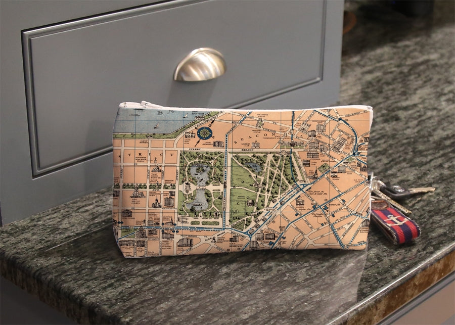 Cosmetic Bag - Boston Vintage Map