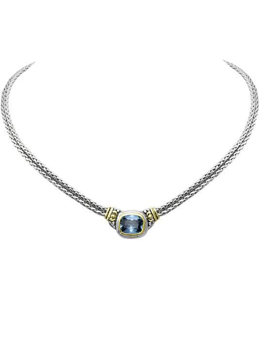 John Medeiros- Nouveau Double Strand Aquamarine Necklace
