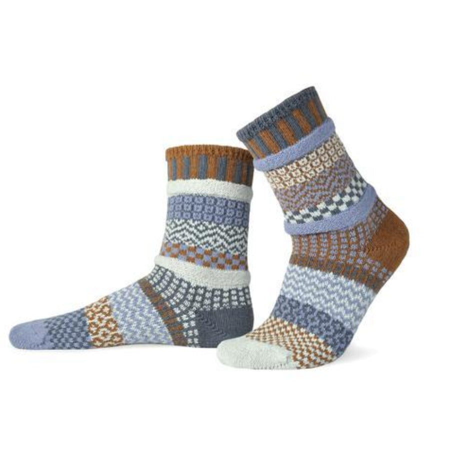 Solmate Socks - Foxtail Crew Socks - Medium