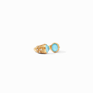 Julie Vos- Paris Luxe Ring-Pacific Blue