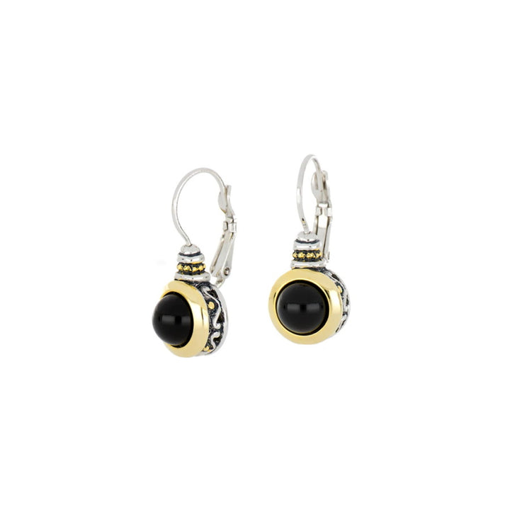 Pérola Black Onyx French Wire Earrings