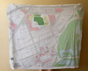 Throw - Fenway Vintage Map