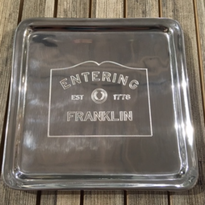 Square Tray - Entering Franklin
