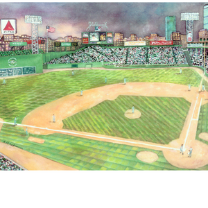 "Fenway Park, Boston - 5"" x 7"" - Gold Frame"