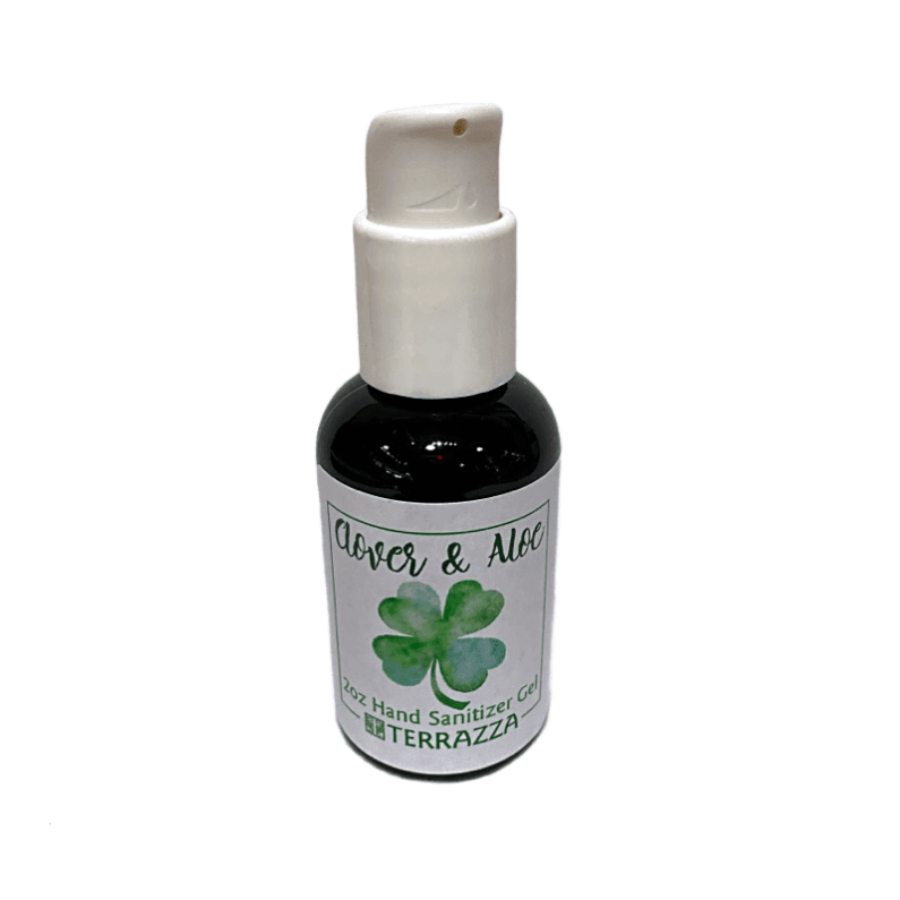 Clover and Aloe - Hand Sanitizer Gel - 2 oz