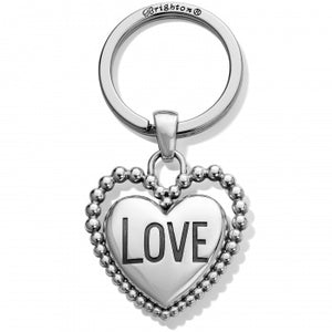 Beaded Love Key Fob