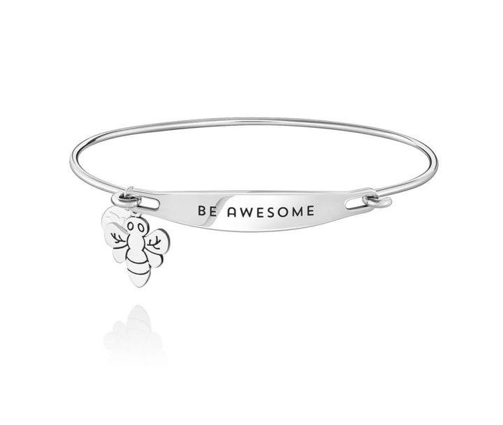 Chamilia-Be Awesome Spoken ID Bangle in Silver