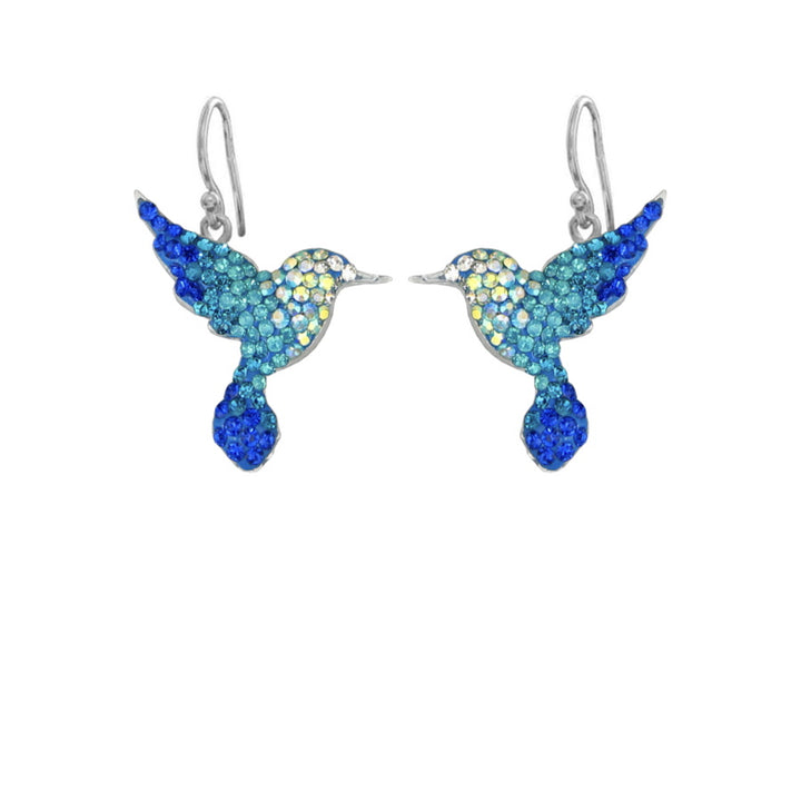 Mosaico Hummingbird Earrings-Blues