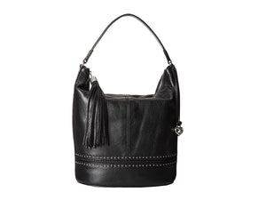 Jake Ziptop Black Bucket Bag