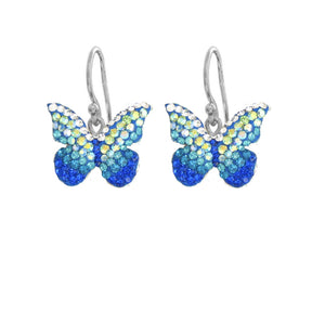 Mosaico Butterfly Earrings-Blues