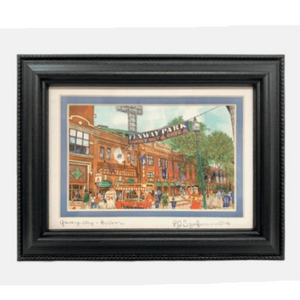 "Framed Print - Yawkey Way, Boston - 5"" x 7"" - Black Frame"