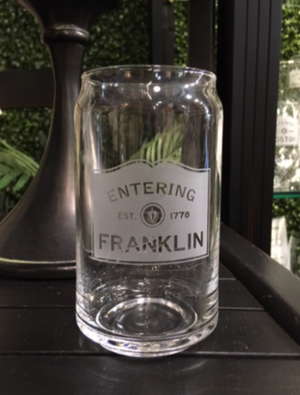 Glass - Beer Can - Franklin