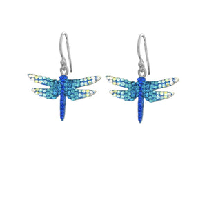 Mosaico Dragonfly Earrings-Blues