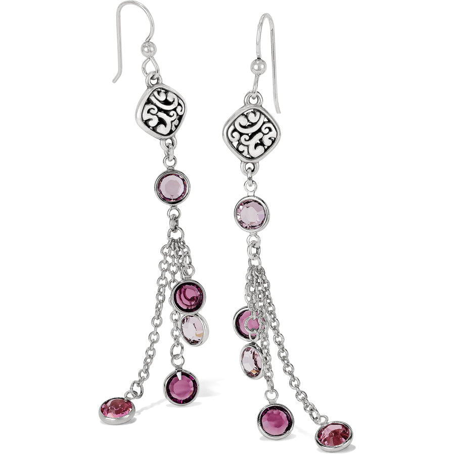 Elora Gems French Wire Earrings-Blush