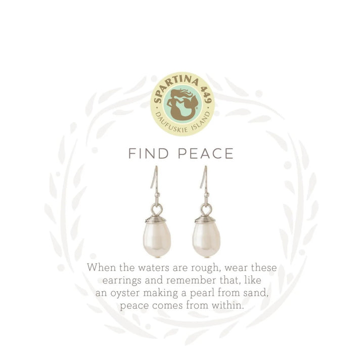 "Sea La Vie ""Find Peace"" Drop Earrings"