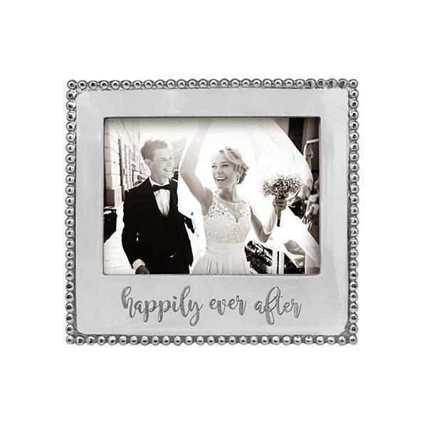 "Beaded Frame - 5 x 7 - ""Happily Ever After"""