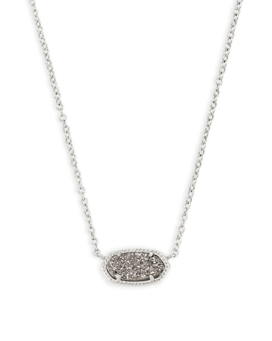 Kendra Scott- Elisa Necklace-Silver with Platinum Drusy