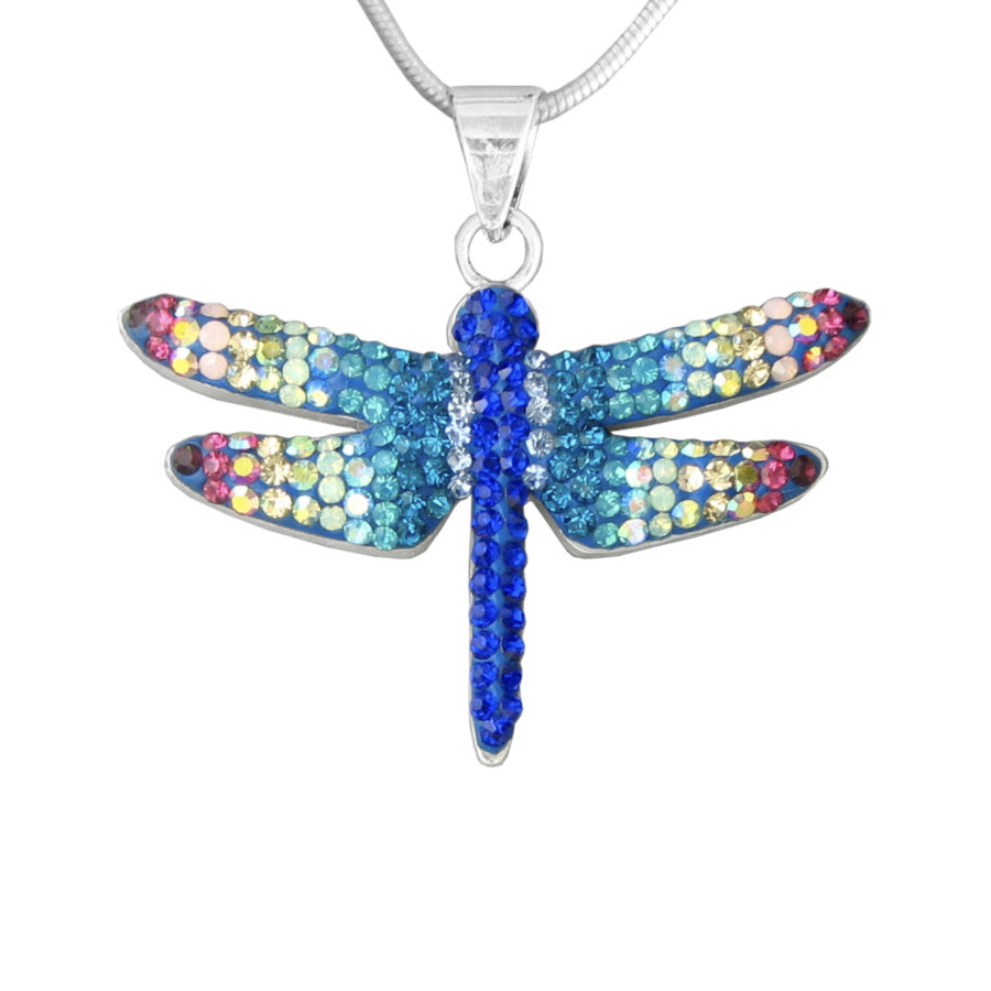 Mosaico Large Dragonfly Necklace-Multi Color