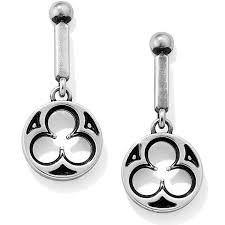 Lorenza Round Post Drop Earrings