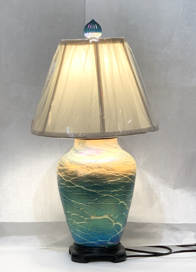 Small Luster Lamp - Green Tone
