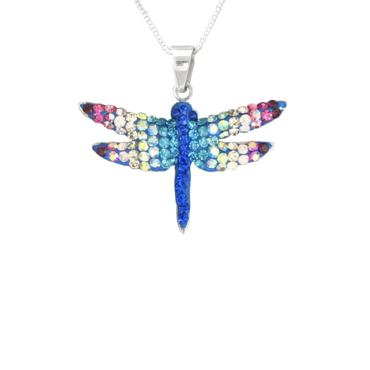 Mosaico Small Dragonfly Necklace-Multi Color