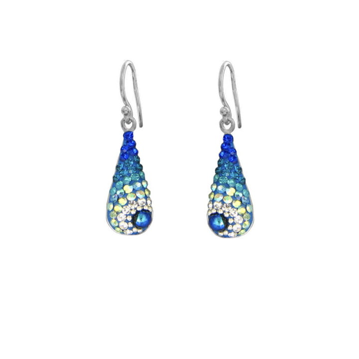 Mosaico Teardrop Earrings-Blues