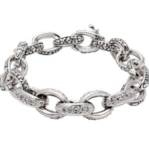 Oval Link Collection Pave' Bracelet
