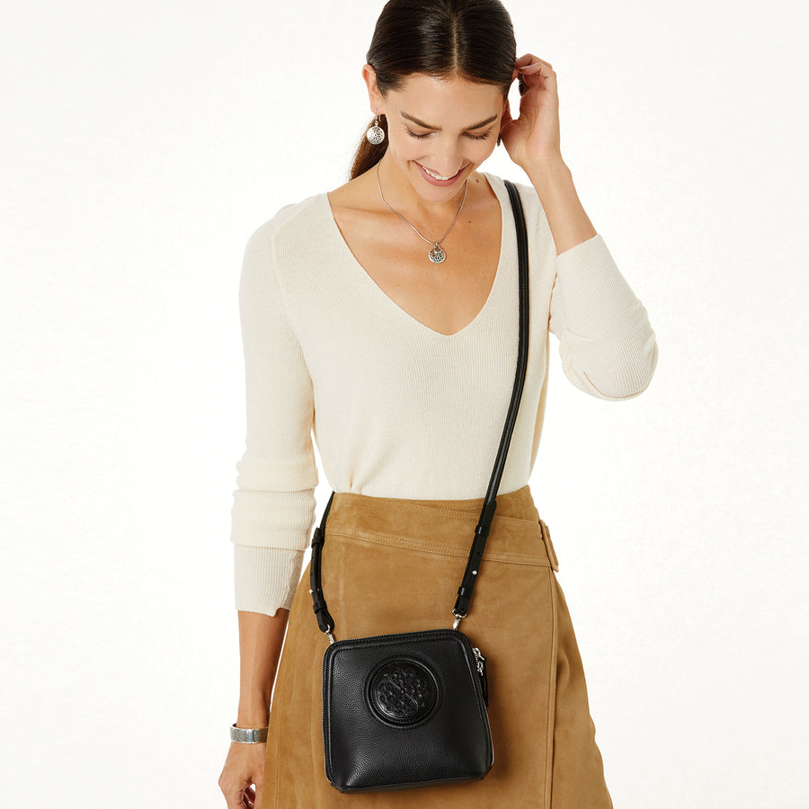 Fina Mini Cross Body-Black