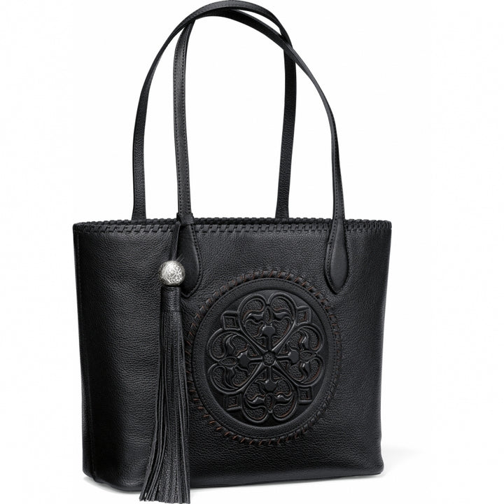 Gabriella Medallion Tote-Black