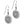 Load image into Gallery viewer, Ferrara French Wire Earrings