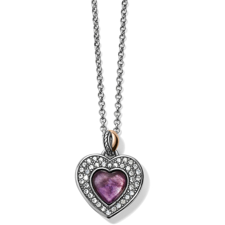 Neptune's Rings Amethyst Heart Necklace