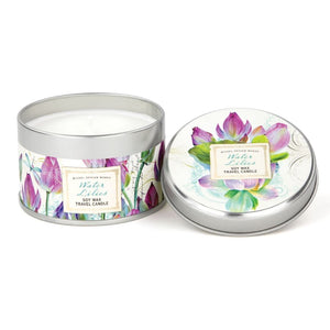 Water Lilies Travel Candle Tin