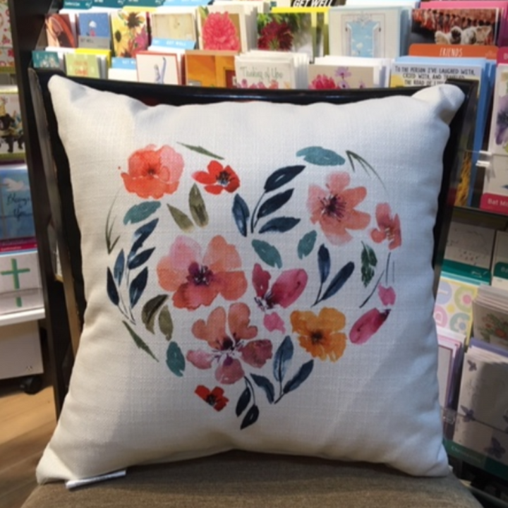 Pillow - Floral heart