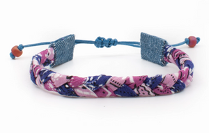 Bandana Love Braided Bracelet - Cotton Candy Skinny