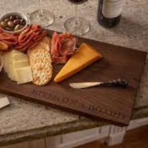 "Cutting Board - Charcuterie plank ""Bites on a Board"""
