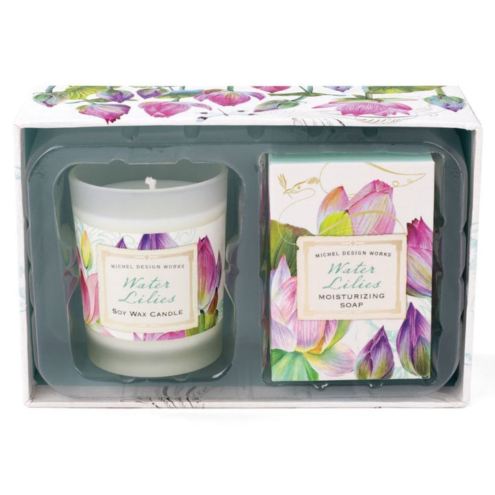 Water Lilies Candle & Soap Gift Set