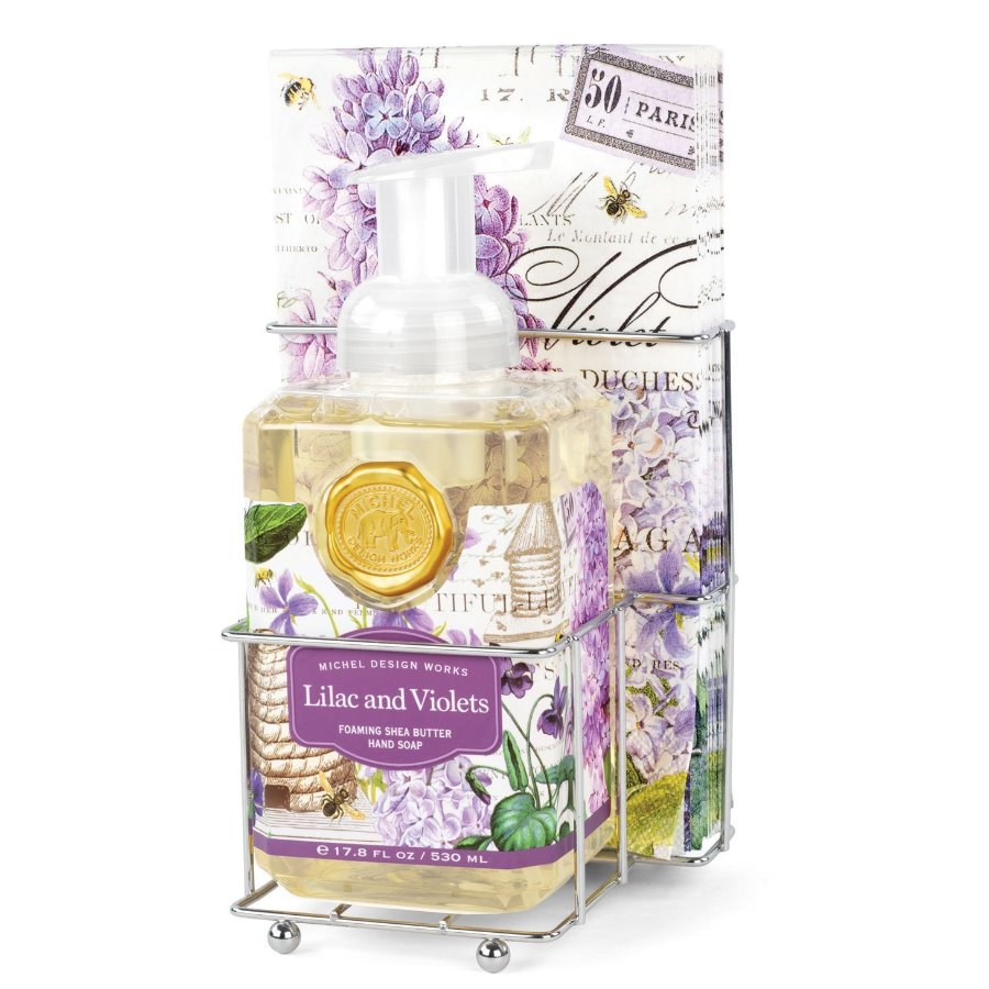Lilac and Violets Foaming Hand Soap Napkin Set