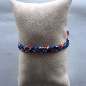 Bandana Love Braided Bracelet - Patriotic Skinny